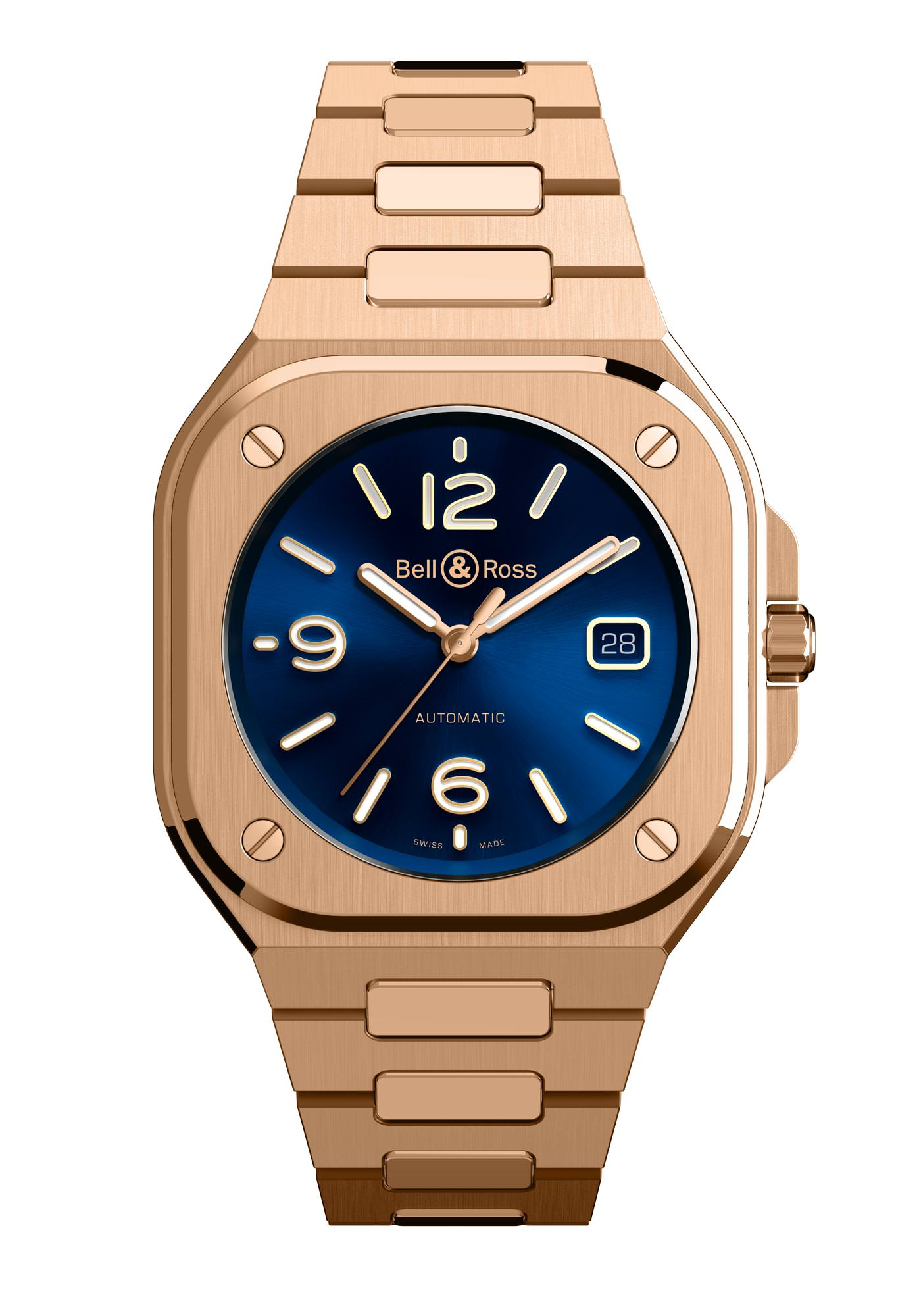 Bell & Ross Nouveaux Modèles BR05 Automatic Gold & Blue Gold Bracelet