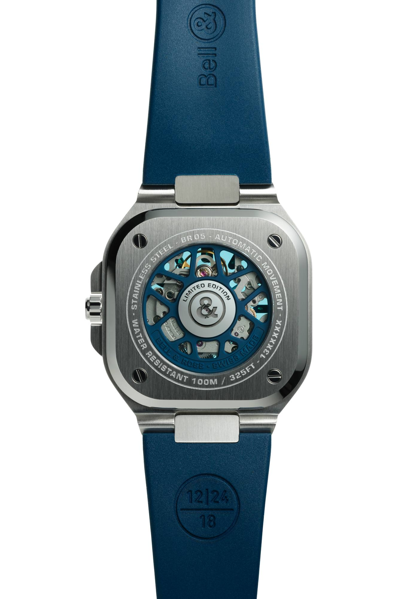 Bell & Ross Nouveaux Modèles Collection BR05 Automatic Sketelon Blue Rubber