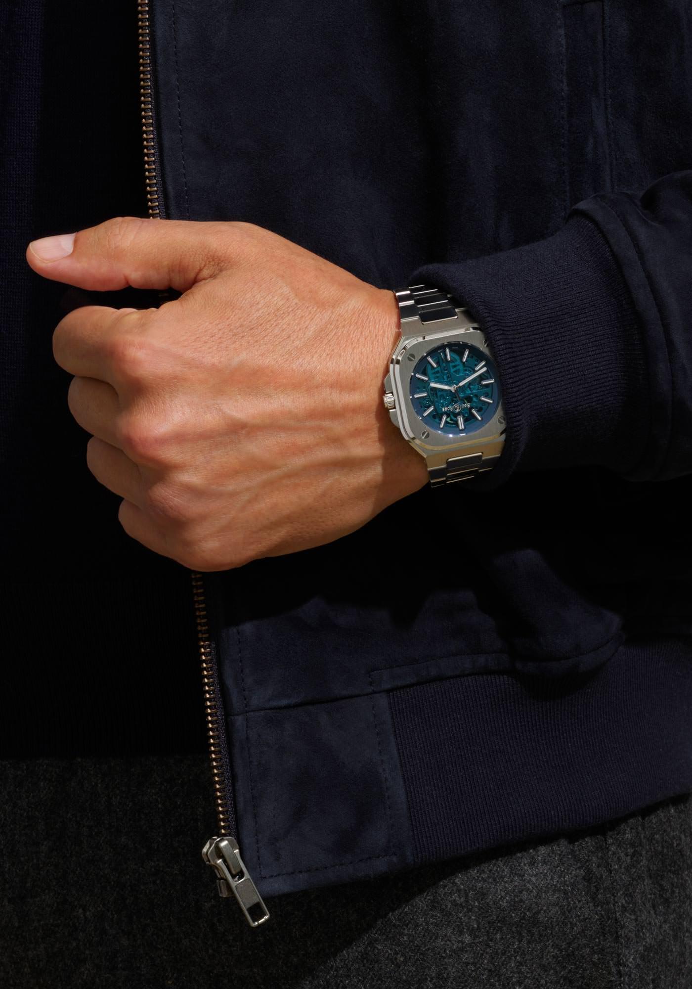 Bell & Ross Nouveaux Modèles BR05 Automatic Sketelon Blue Steel