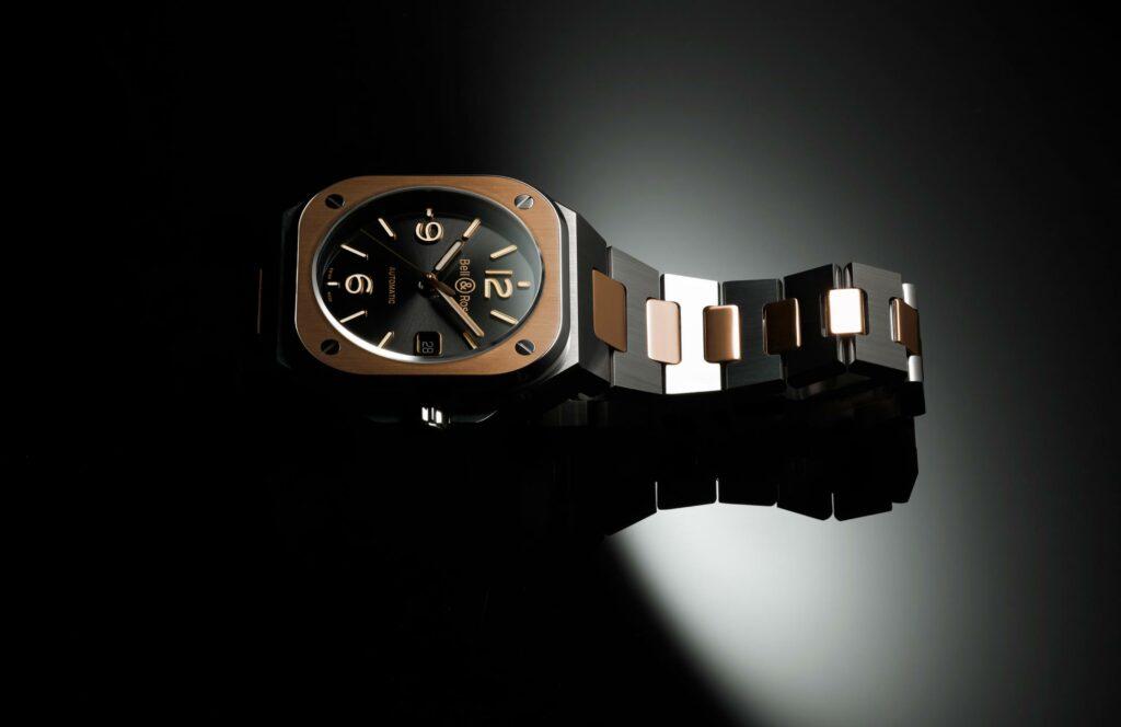 Bell & Ross Nouveaux Modèles BR05 Automatic Steel & Gold Steel Bracelet