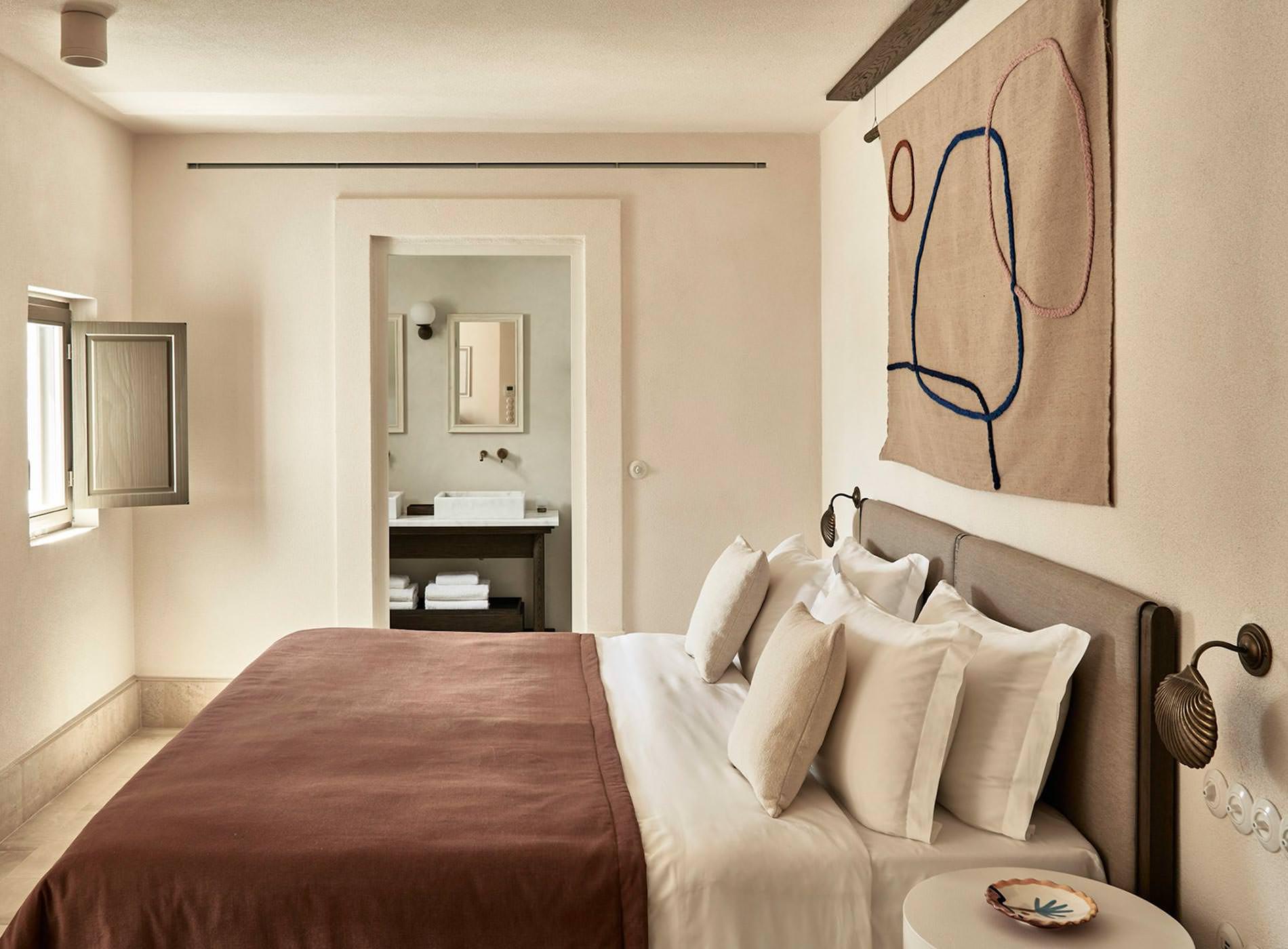 Parilo Hotel, Plage de Kolympithres, Village de Náoussa, Ile de Paros, Îles des Cyclades, Grèce