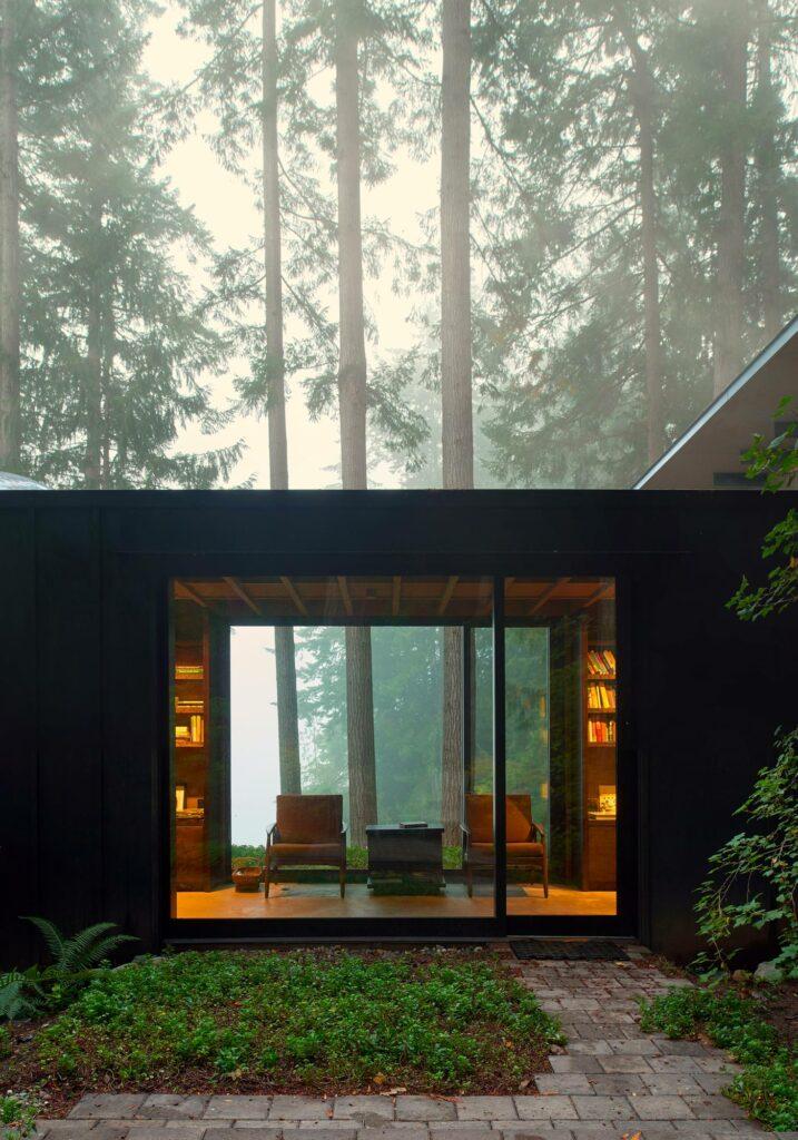 Cabin at Longbranch, Olson Kunding Architects, Key Peninsula, Etat de Washington, USA