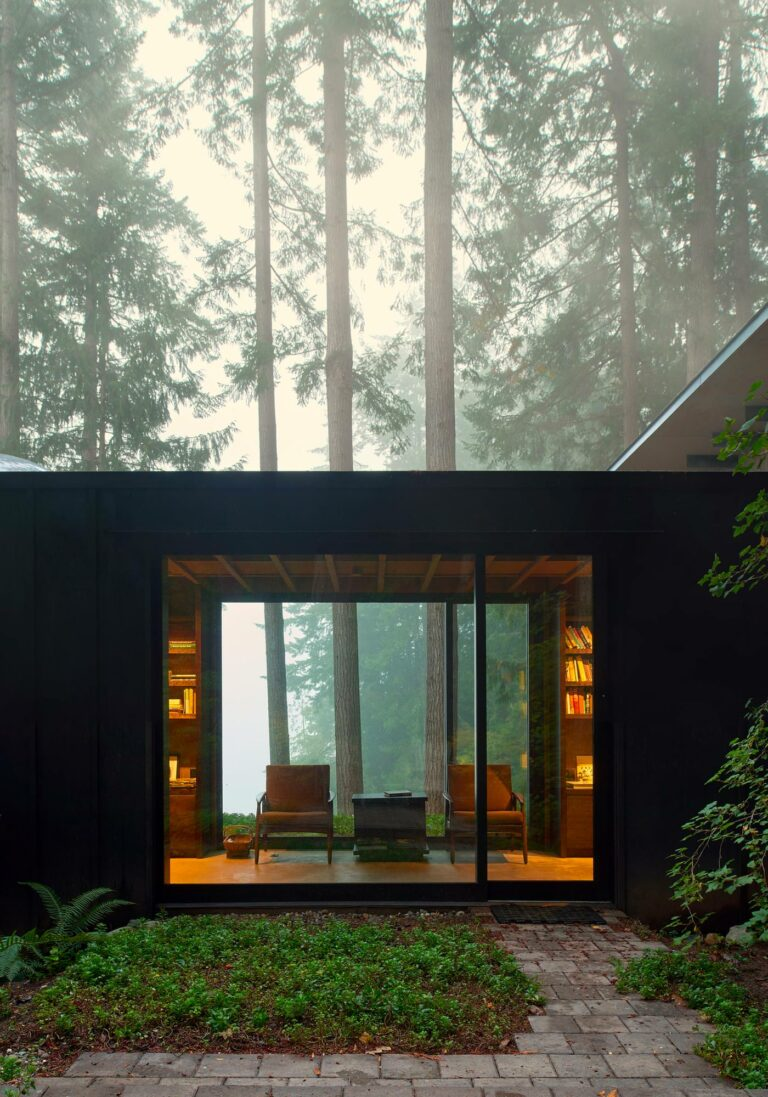 Cabin at Longbranch, Olson Kunding Architects, Key Peninsula, Etat de Washington, USA